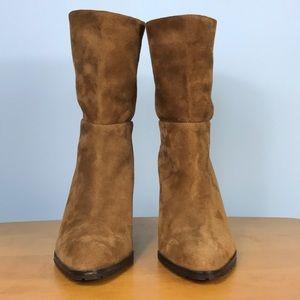 LK Bennett Shoes - LK Bennett 🌷Tobacco Suede Pull-On Wedge Booties